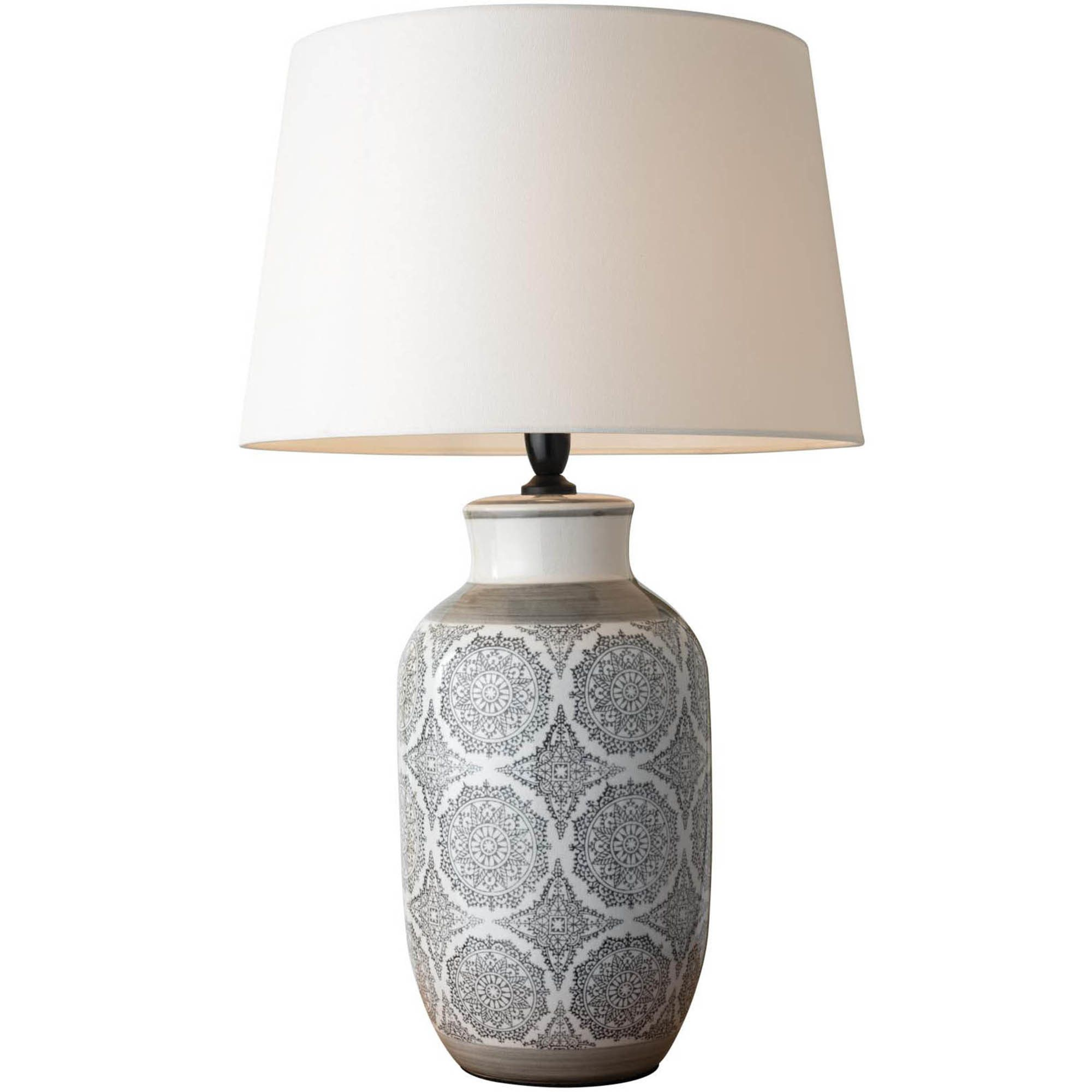 Our Adelina Table Lamp's glass base