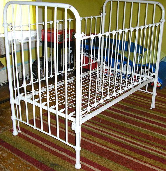 Antique Victorian cast iron crib dog bed by ChloeandNatalieVtg