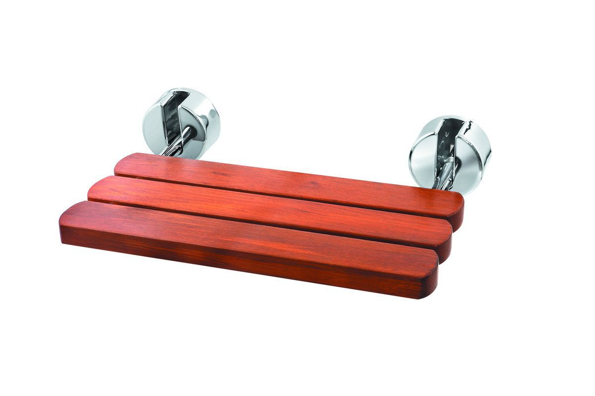 Mr Steam MSWALLSEAT Wall Mounted Seat For Steam/Shower Polished Chrome Shower  Accessories Shower Seats