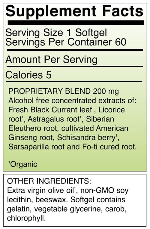 Adrenotonic™ Softgels 60 ct., also comes in a soy-free tincture!