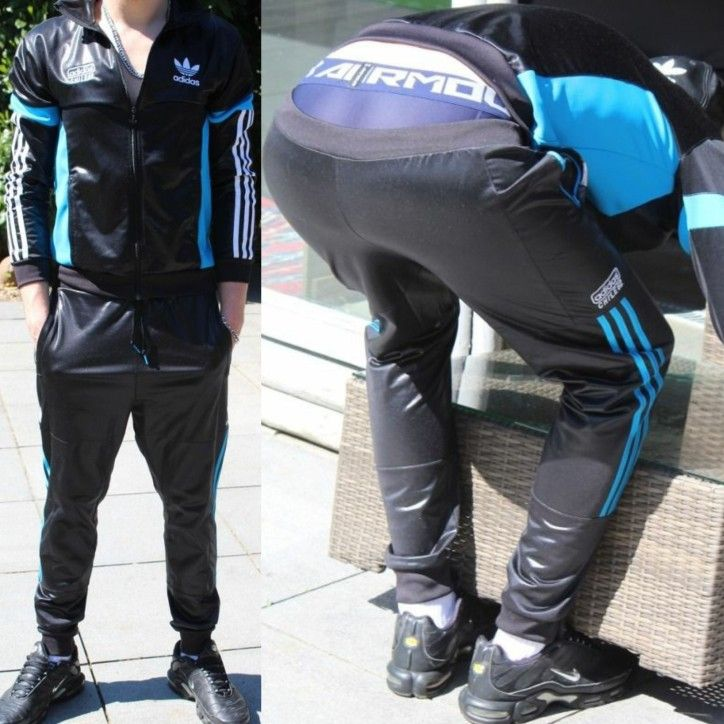 Rodeo panel vídeo  Adidas Chile 62 track bottoms | Mens leather pants, Suits and sneakers,  Sagging pants