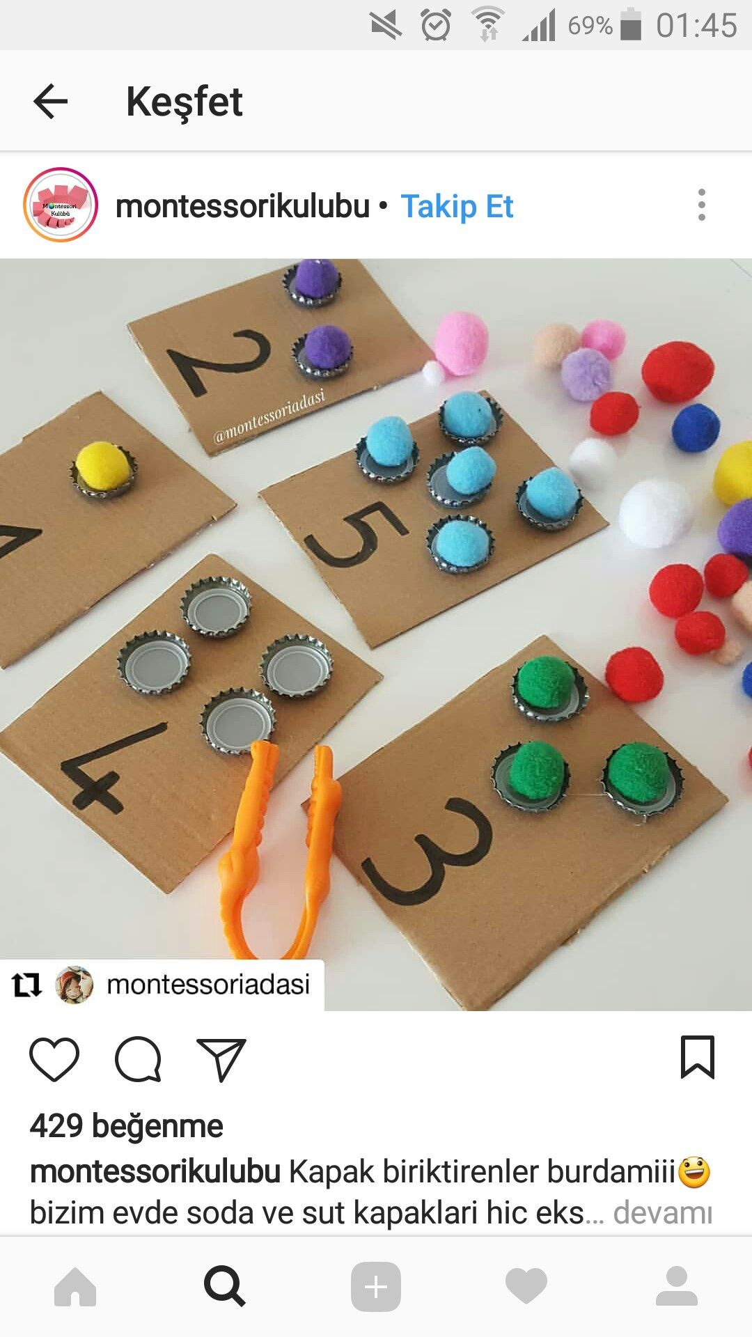 Good Idea To Sort By Color Can Use Plastic Caps For