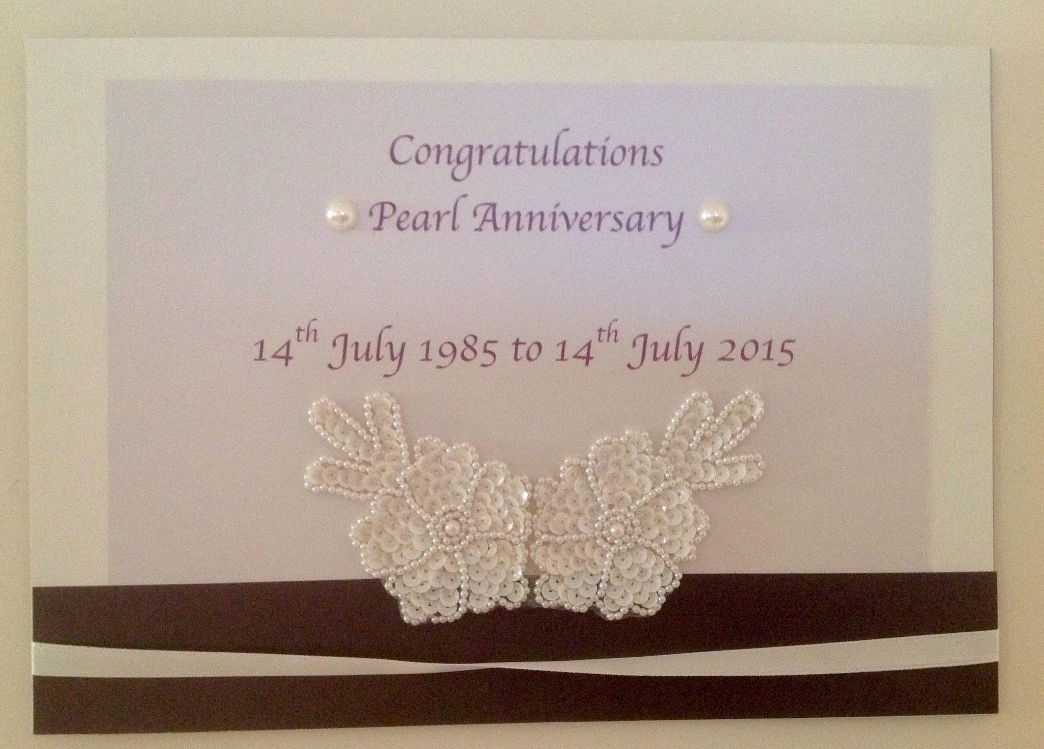 Pearl Anniversary x