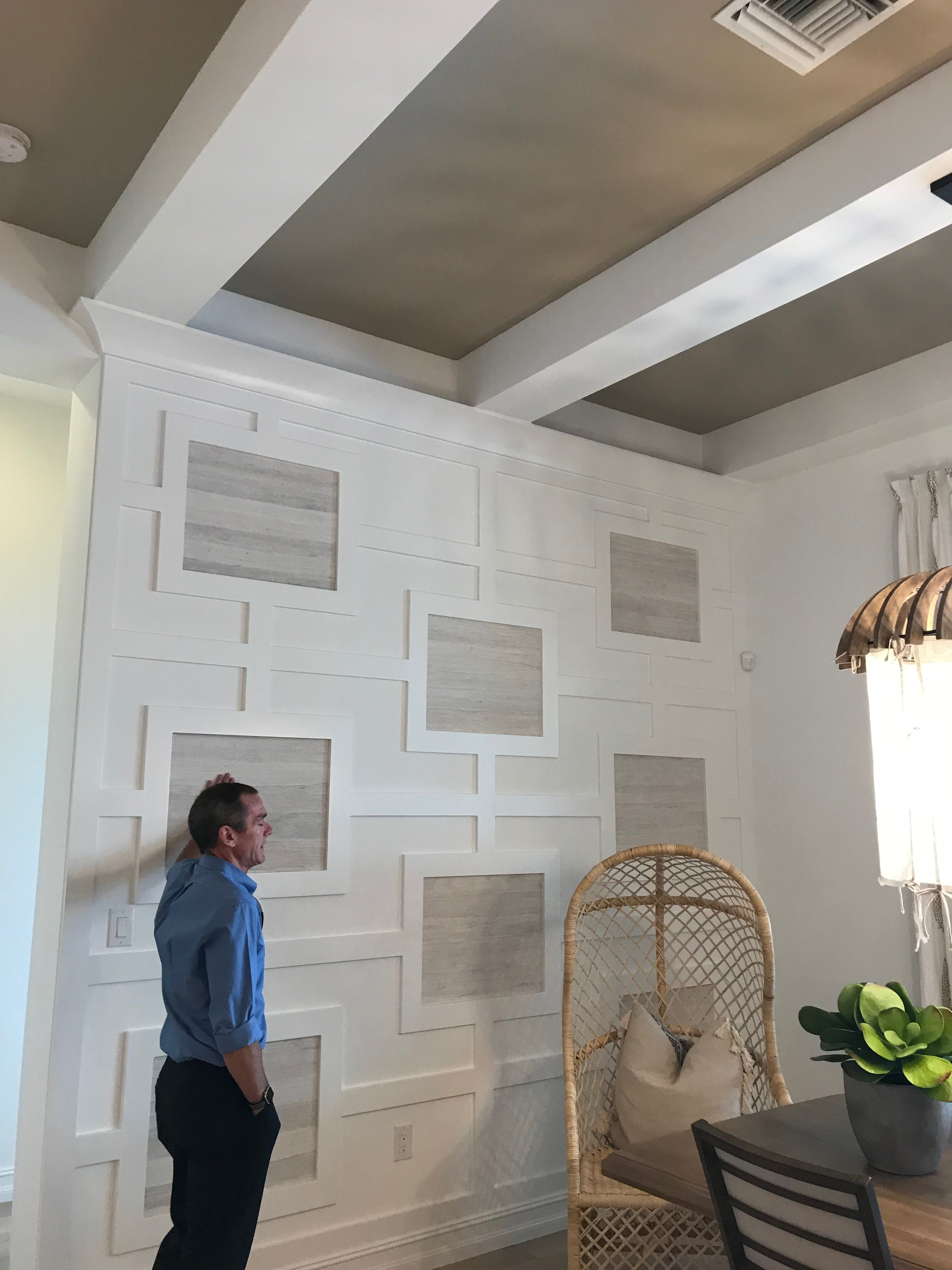 Cool Detail In The Trim Work Family Room Walls Home Renovation