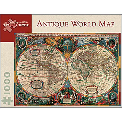 Old world map jigsaw puzzle 1000 piece jigsaw puzzles pomegranate antique world map 1000 piece jigsaw puzzle gumiabroncs Image collections