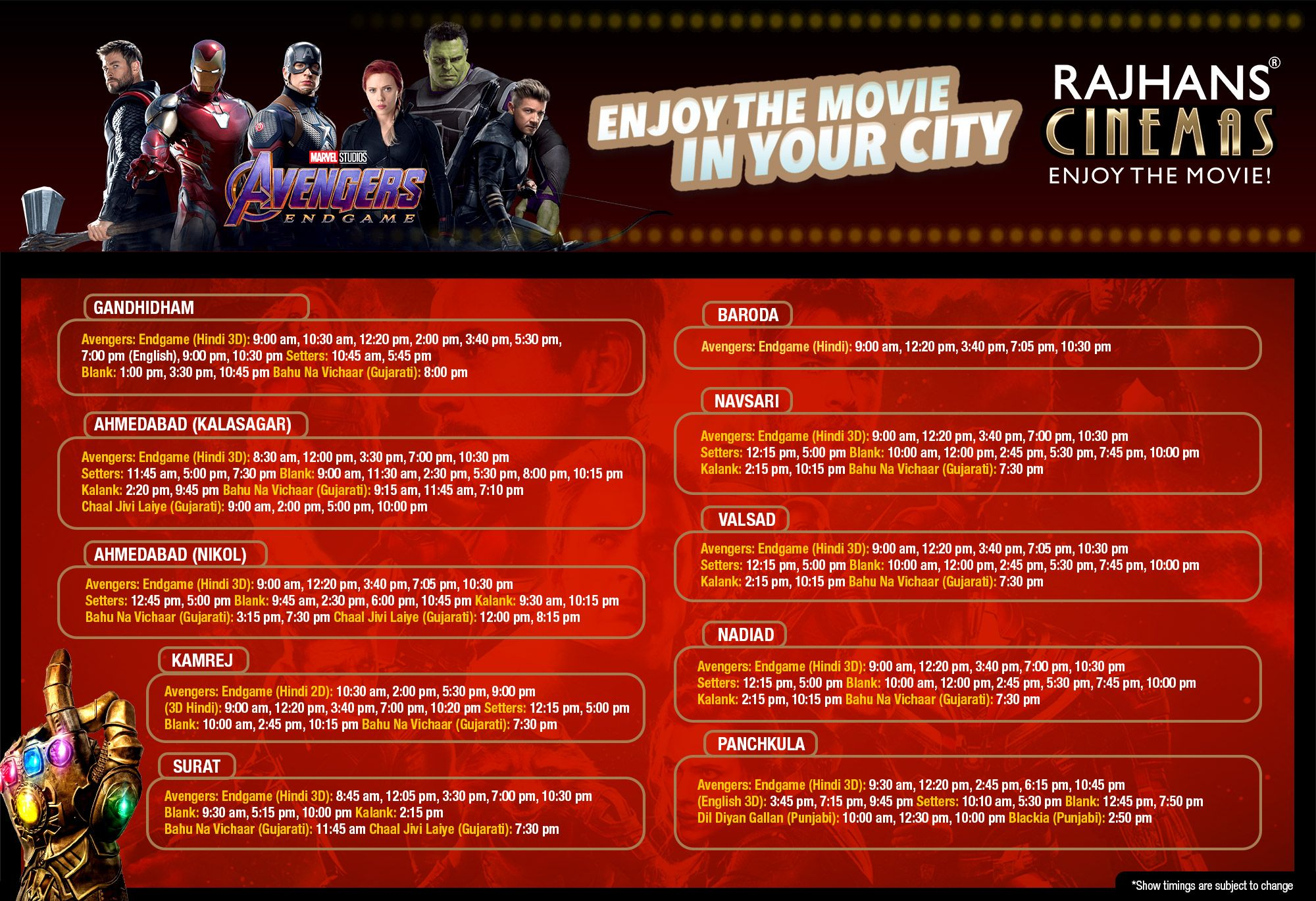 Book your tickets only at your nearest RajhansCinemas