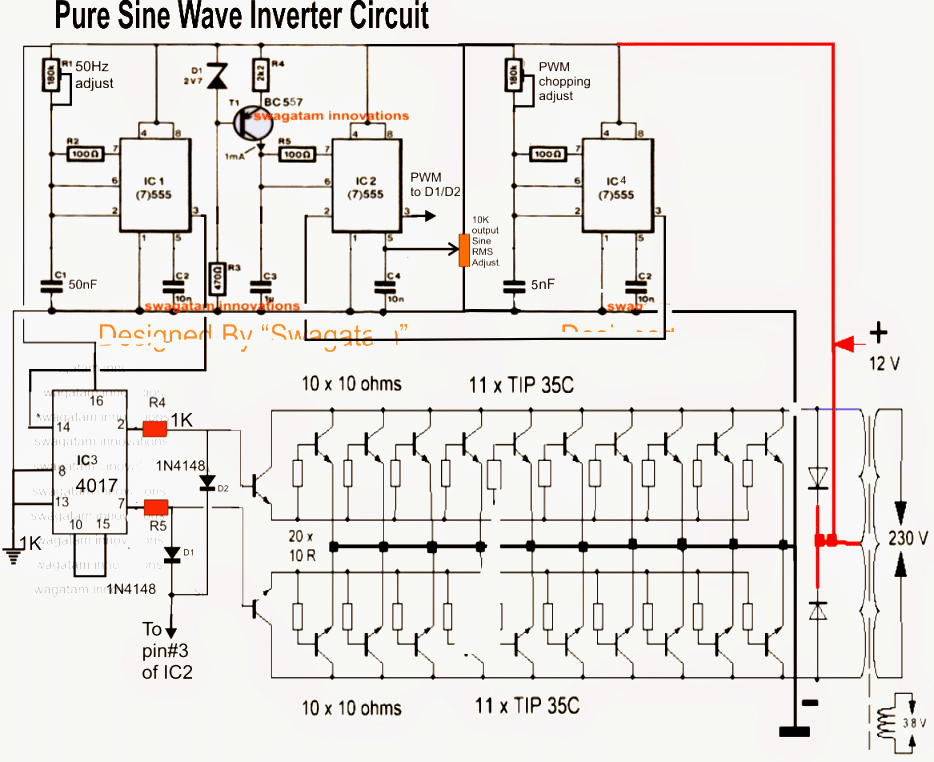 7 Modified Sine Wave Inverter Circuits Explored 100w To 3kva Homemade Circuit Projects Esquemas Eletronicos Circuito Eletronico Componentes Eletronicos