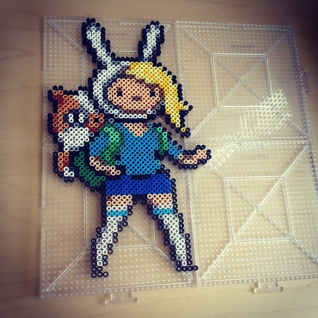 Fiona and Cake - Adventure Time hama beads by smargetts