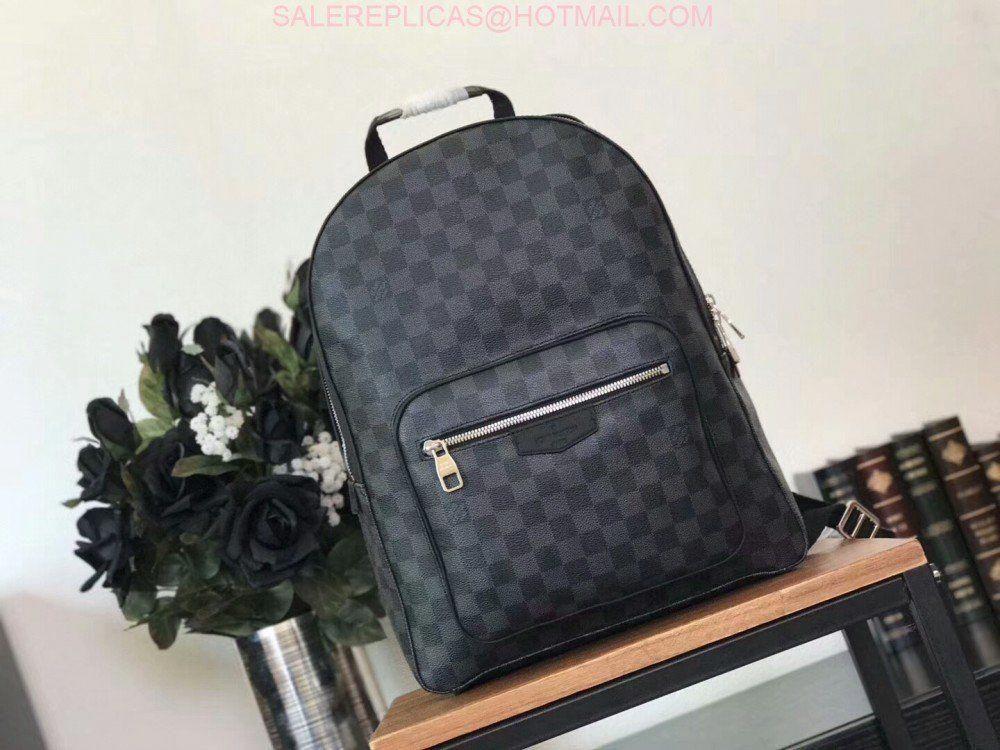 fd0ca2a03fcb Louis Vuitton JOSH Mens Damier Graphite Canvas Backpack N41473   Louisvuittonhandbags