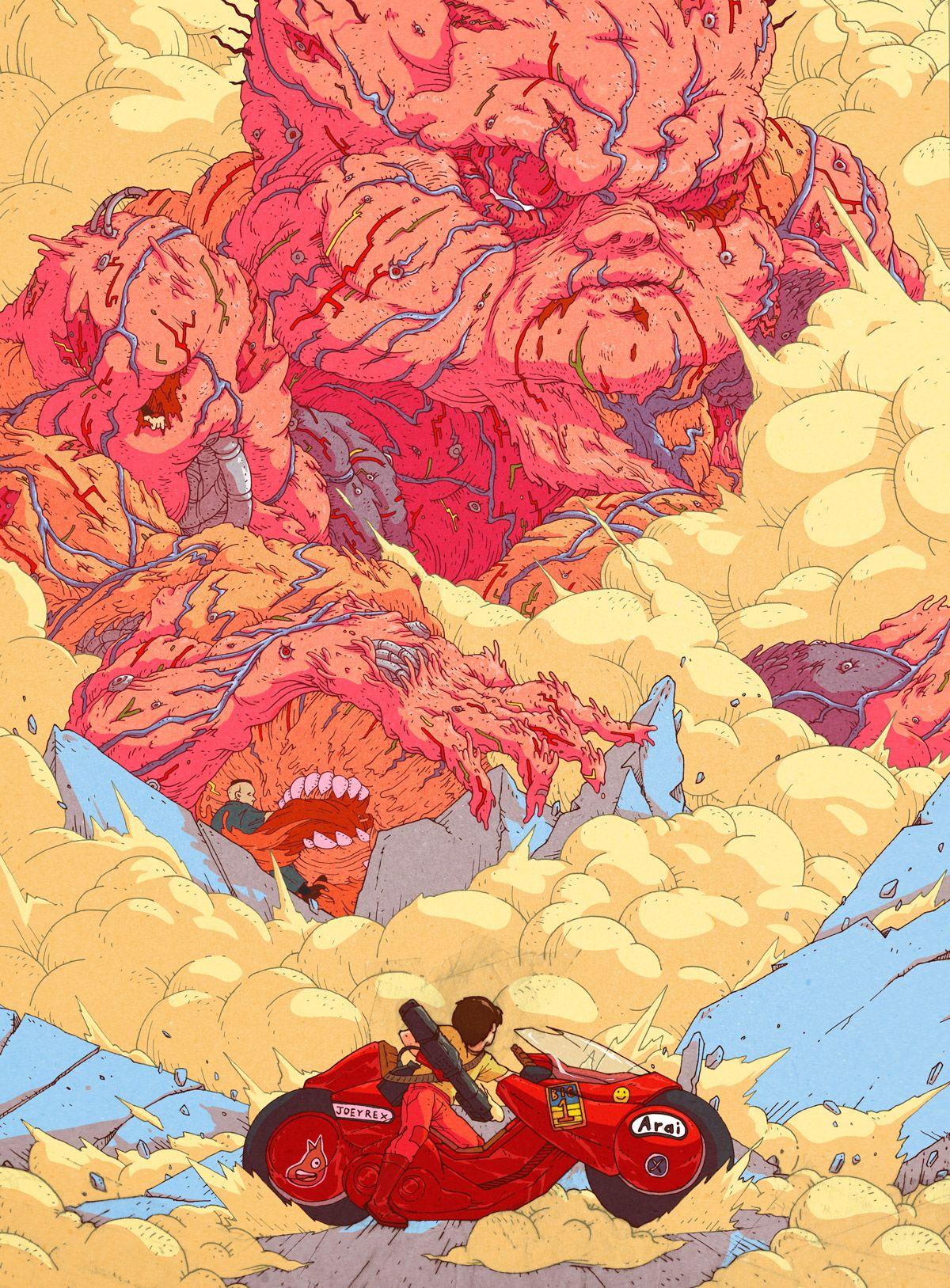 Iamjoeyrex Final Boss Tetsuo Akira Anime Scifi Fantasy Art Art