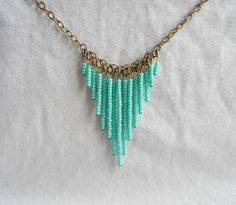 Could make similar love this style turquoise beaded necklace could could make similar love this style turquoise beaded necklace could be adapted for other solutioingenieria Choice Image