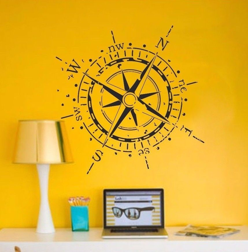 Exelent Compass Rose Wall Decor Illustration - Art & Wall Decor ...