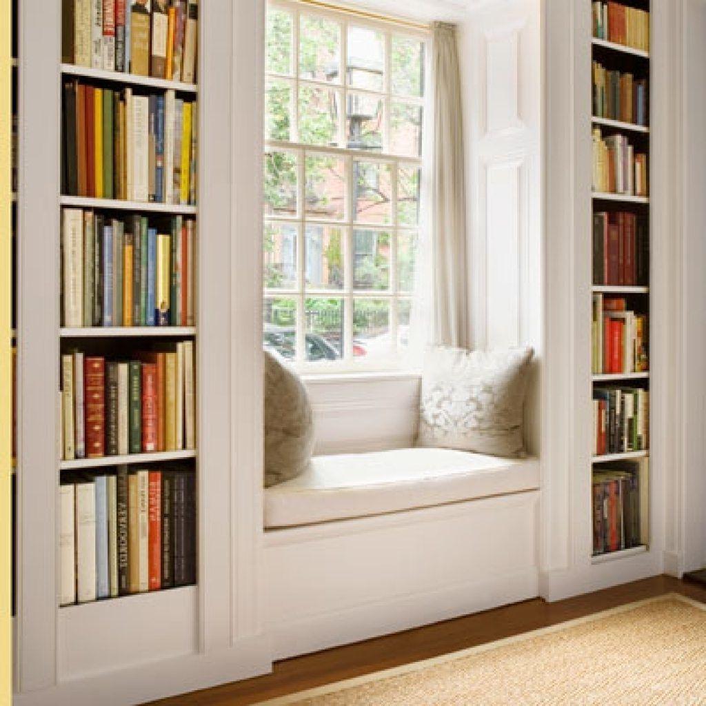 window seat and bookshelves american hwy ellen s living room in