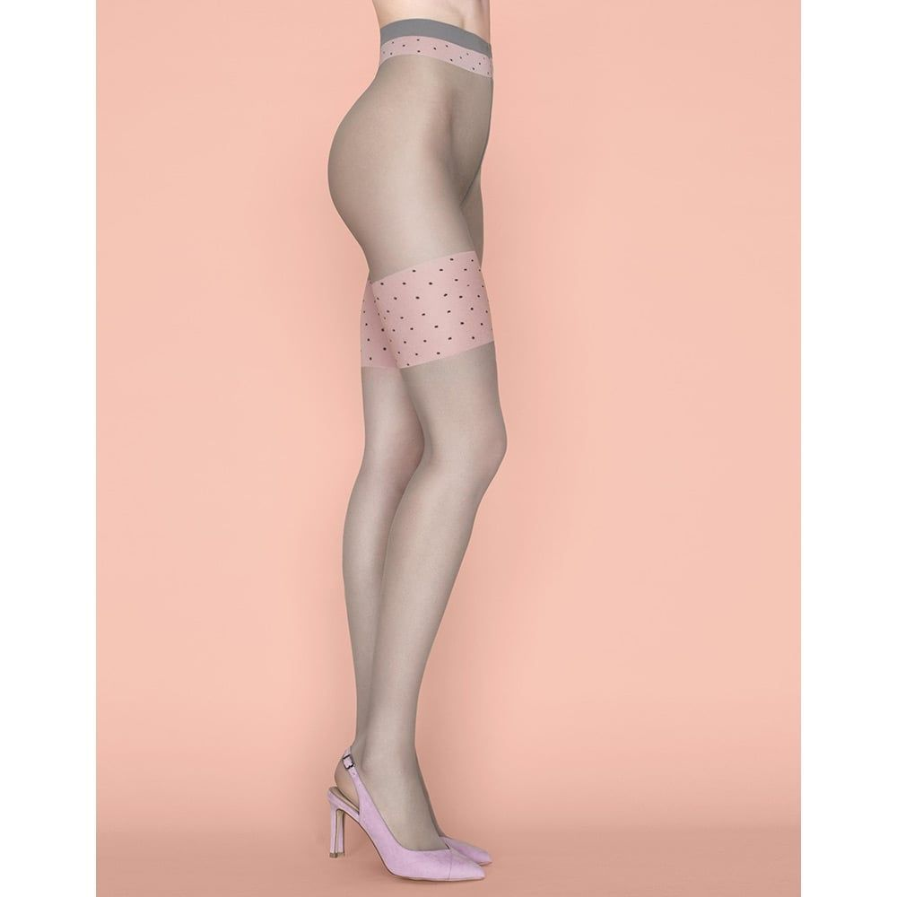 9a3187be9 Fiore Lolita contrast top faux hold-up tights at Stockings HQ the Fiore  Tights…