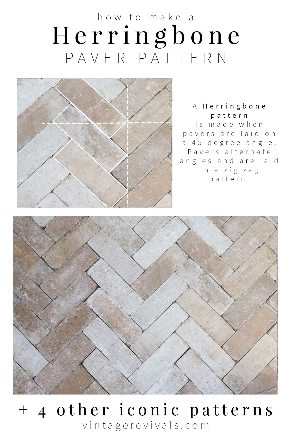 5 Iconic Paver Patterns You Can Diy With Images Paver Patterns