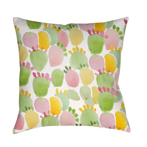 Prickly Multicolor 18 x 18-Inch Throw Pillow