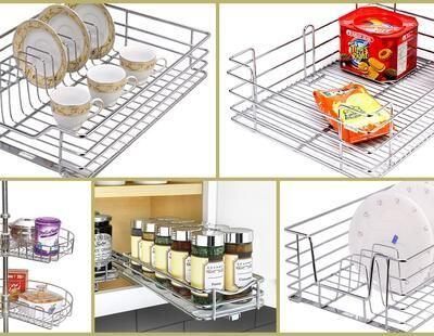 Looking to modify your modular #kitchen? Look no further. We have researched and summarized the top 10 modular kitchen baskets for your daily needs to keep your things in an orderly manner. Let's check them out!! #kitchenorganizer #spacesaver #kitchenstorage #modularkitchen