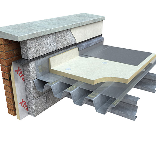 Google Image Result For Https Www Tjomahony Ie Wp Content Uploads 2016 08 Xtratherm Flat Roof Xtmg Steel Deck Jpg Steel Deck Coping Stone Step Stool