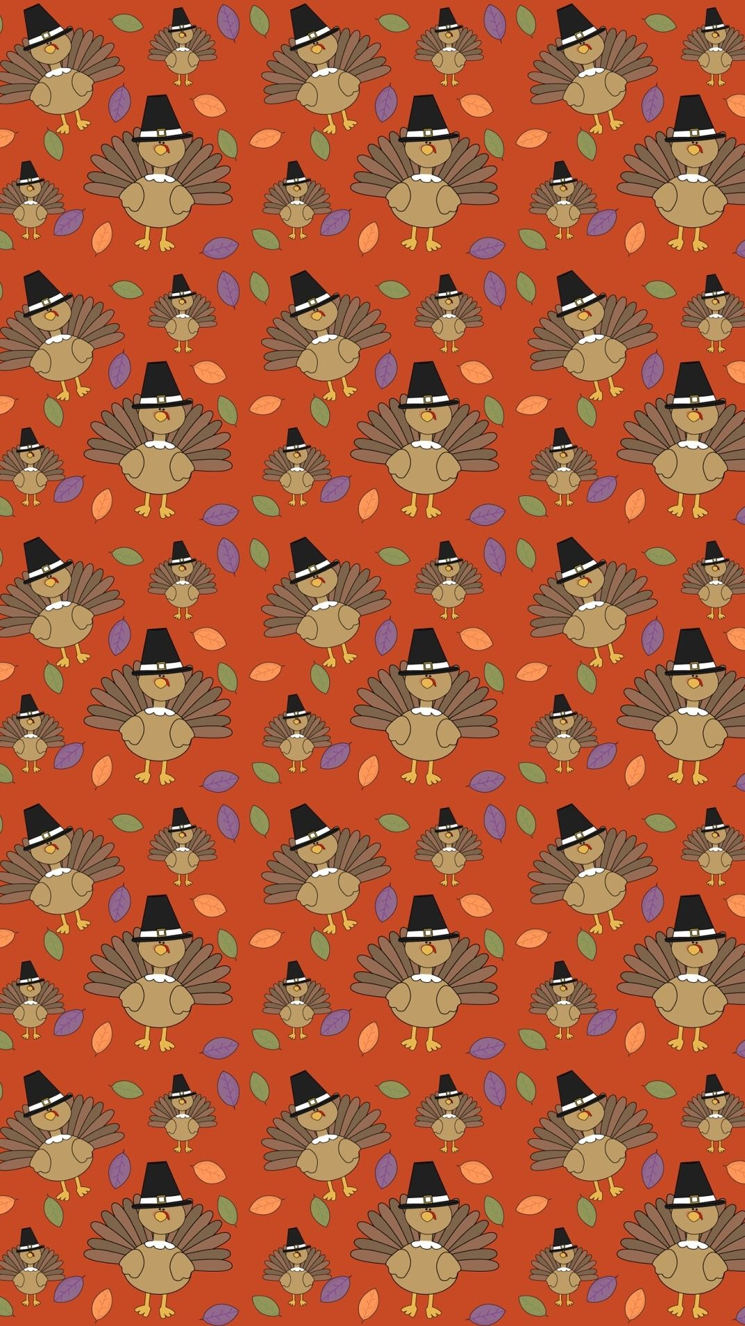 Thanksgiving Turkey Pattern Wallpaper Thanksgiving