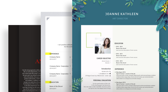 FREE Professional Resume Templates Help You Win the Job