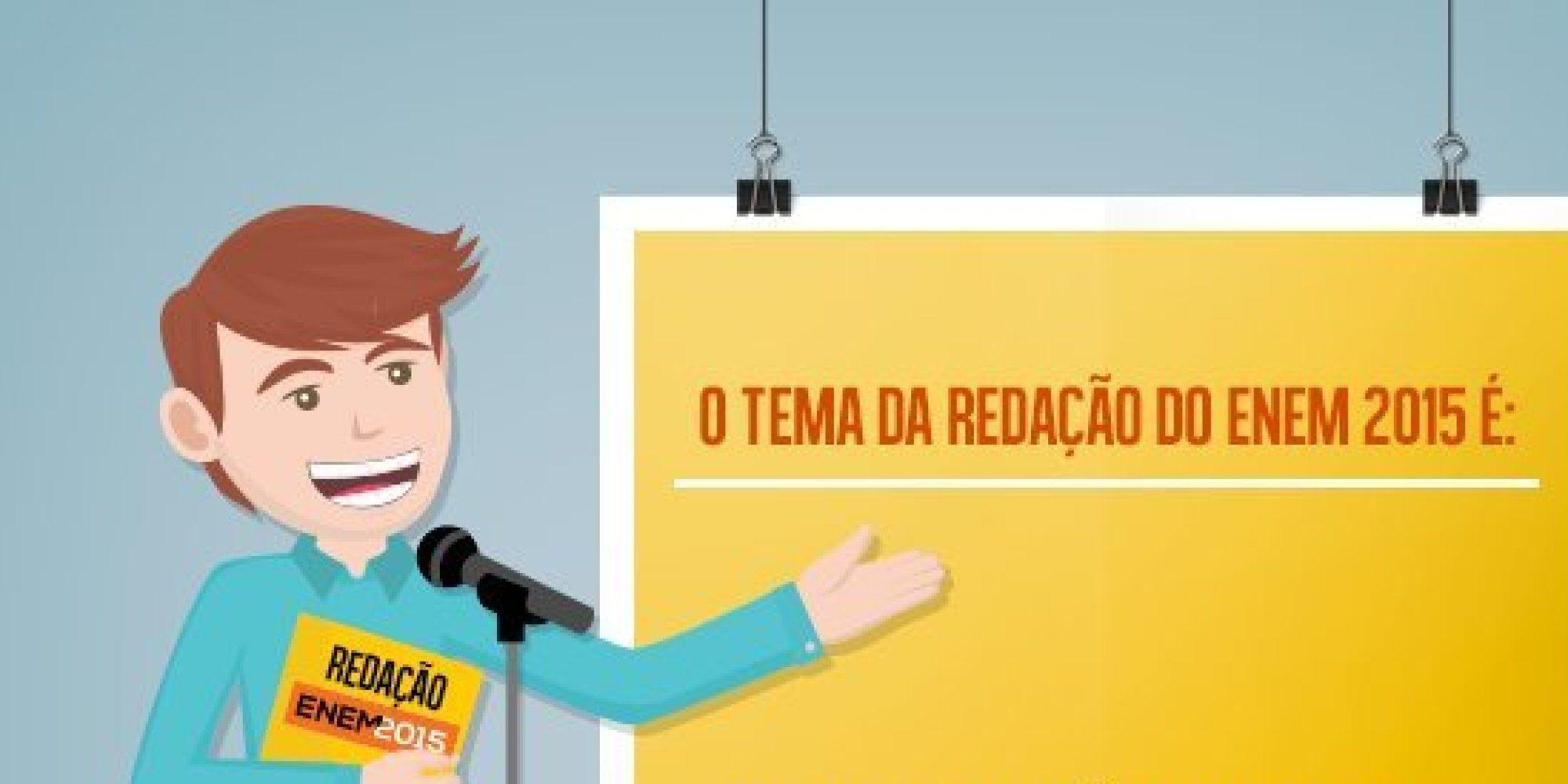 """O tema da redação do Exame Nacional do Ensino Médio (Enem) é """"A persistência da violência contra a mulher na sociedade brasileira"""", conforme divulga"""