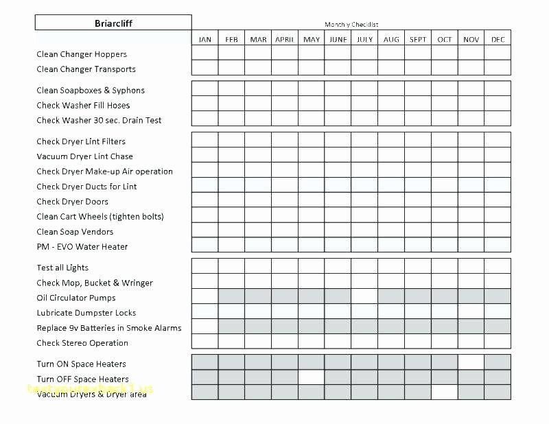 Preventative Maintenance Schedule Template Elegant Building Maintenance Checklist Form Hvac Temp Schedule Template Preventive Maintenance Maintenance Checklist