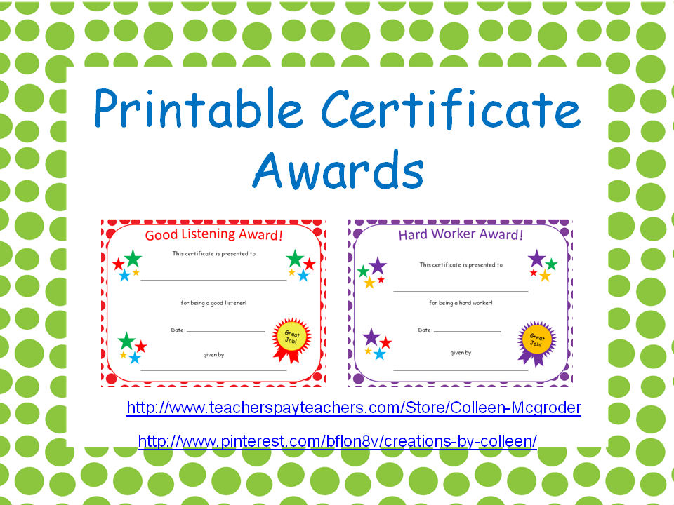 certificate awards with polka dot editable guardian s shield