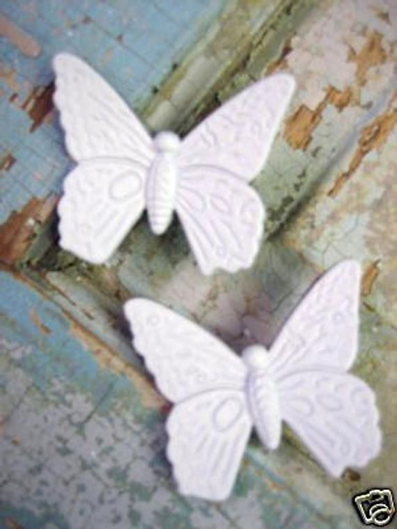 Shabby Chic Butterflies (set of 2)