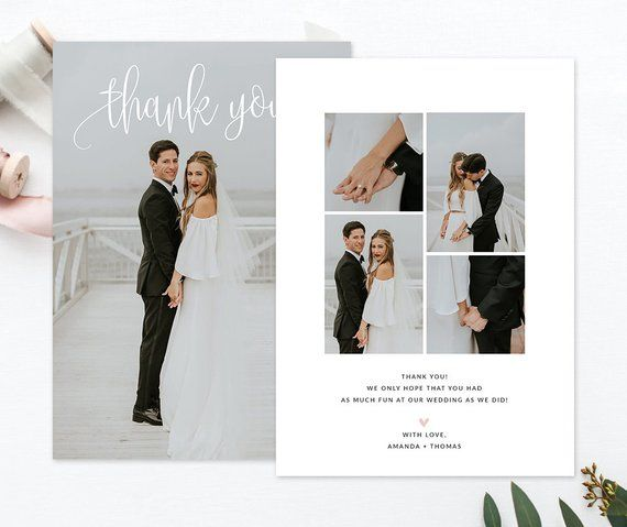 T3 Wedding Thank You Card Template For Photographers Wedding Photography Thank You Card Templ Wedding Thank You Photo Thank You Cards Wedding Album Layout