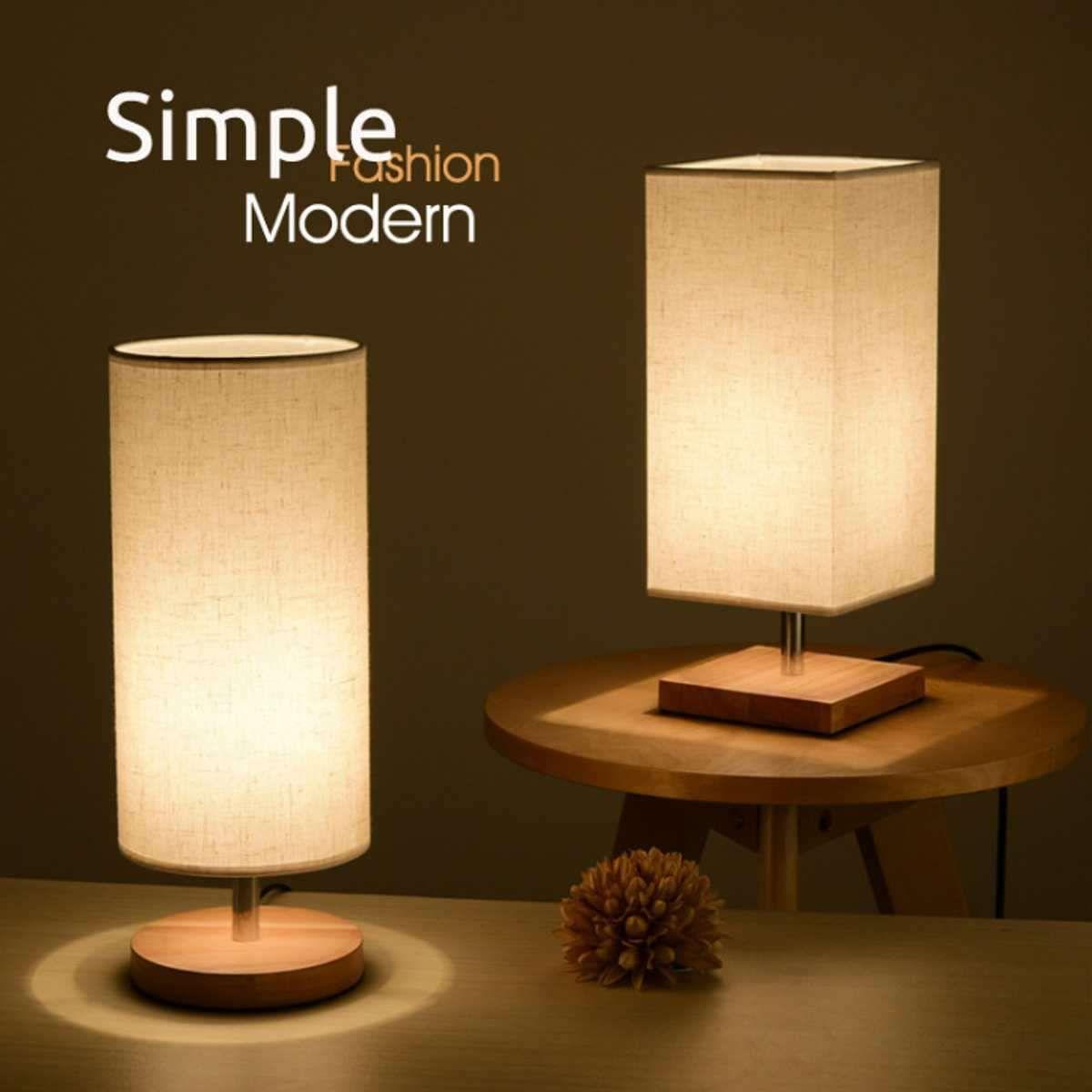 Simple Elegant Wall Lamp Wood Table Lamps For Bedroom Bedroom