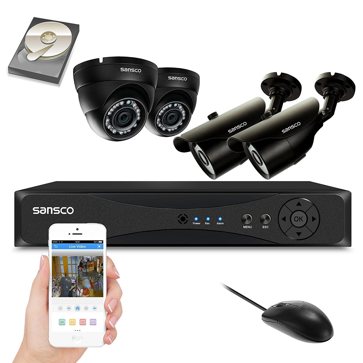 10 Top 10 Best Dvr Home Security System In 2017 Cctv Security Cameras Dome Camera Home Video Surveillance