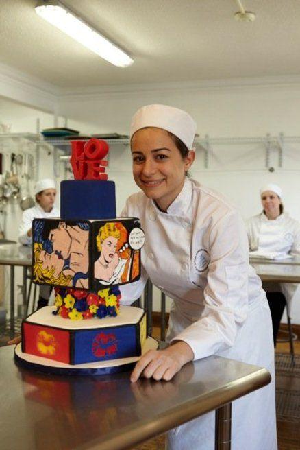 Pop Art Wedding Cake Cake by Sweetheavencake