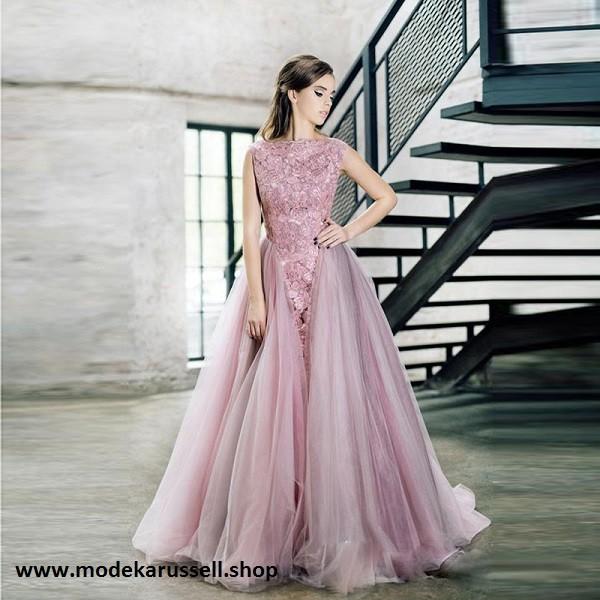 Abendkleid Rosina In Altrosa Mit Spitze Und Tull Online Bestellen Abendkleid Kleider Modestil