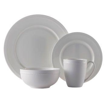 Roscher 32-pc. Braid Bone China Dinnerware Set  sc 1 st  Pinterest & Roscher 32-pc. Braid Bone China Dinnerware Set | Dishes ...