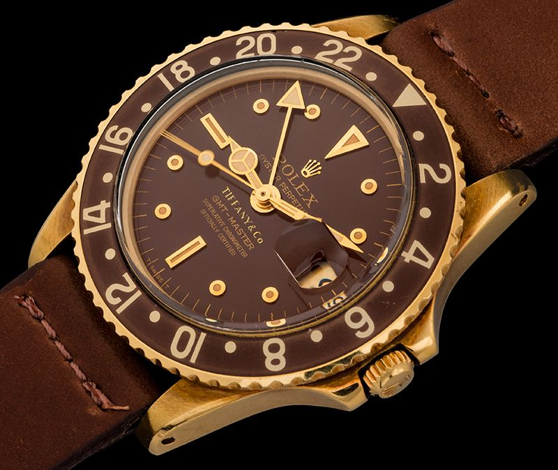 The gold GMT Stella dial retailed by Tiffany