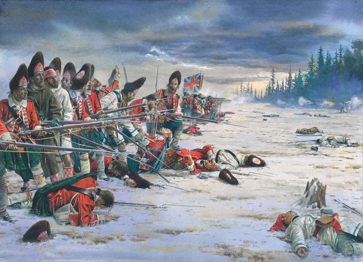 battle of quebec The battle of quebec took place on september 13, 1759 the french army was led by the marquis de montcalm and the english army by major-general james wolfe this was only one battle in what american historians call the french and indian war.