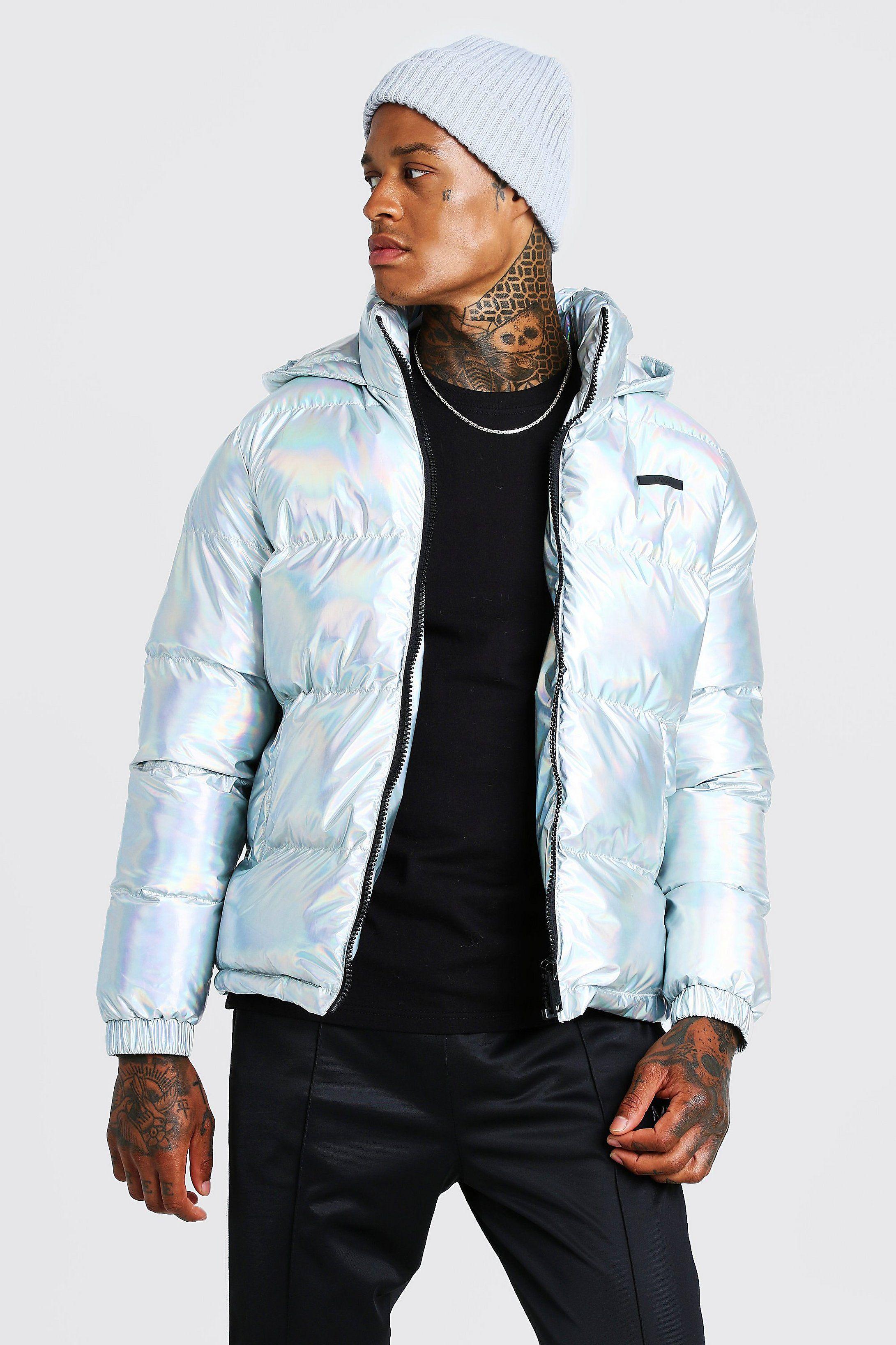 Metallic Puffer Jacket Boohoo Nederland In 2021 Jackets Puffer Jackets Distressed Denim Jacket [ 3272 x 2181 Pixel ]