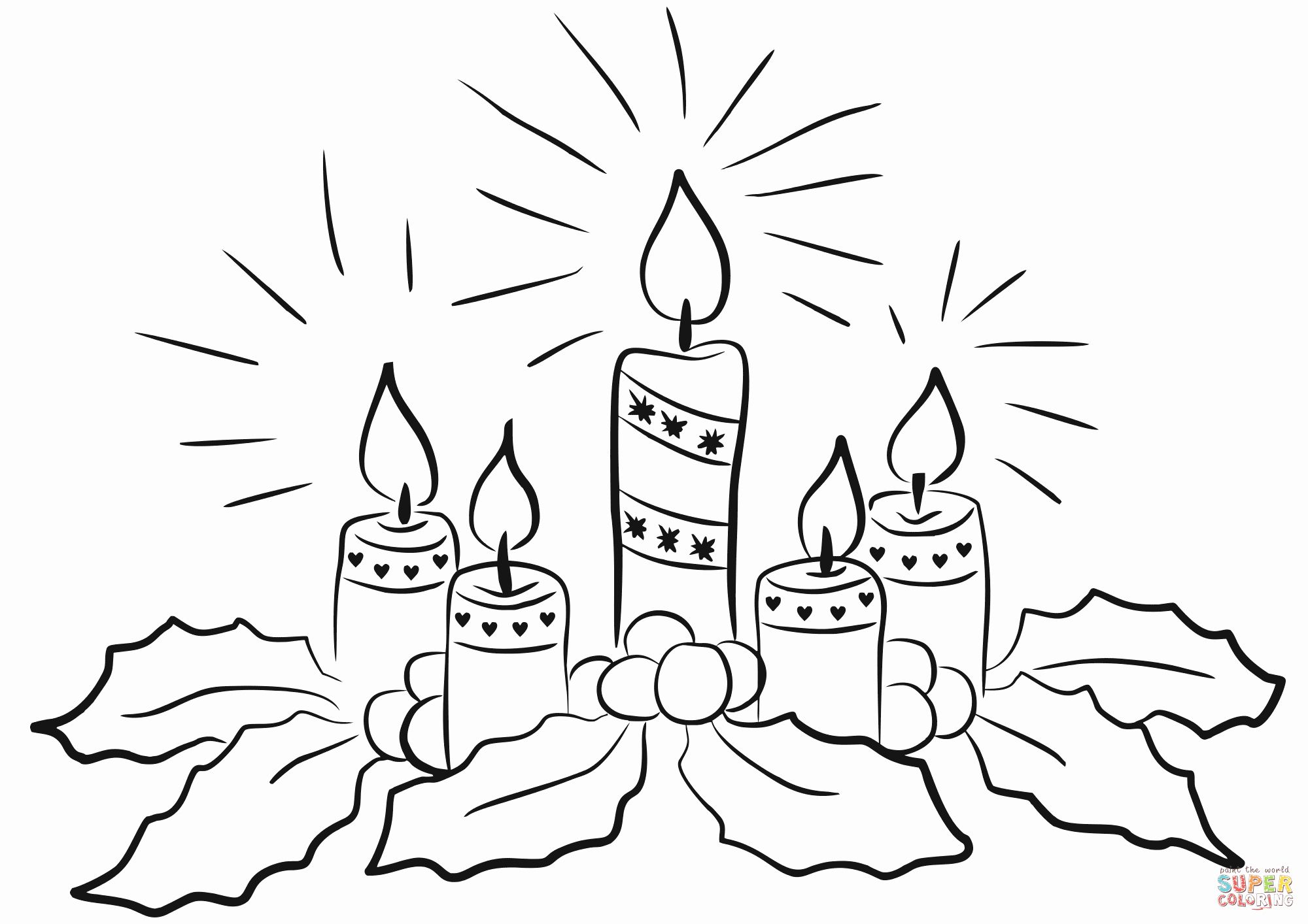 30++ Advent candle clipart black and white information
