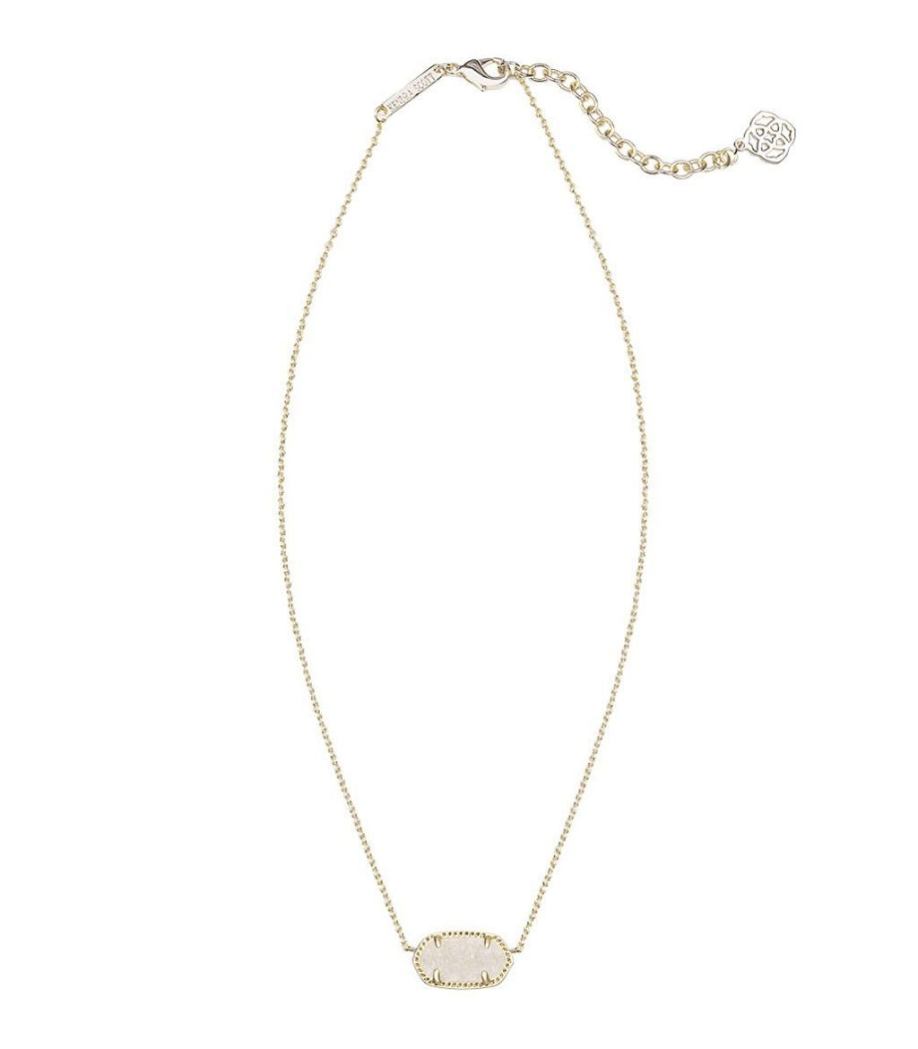Kendra scott elisa gold pendant necklace in iridescent drusy inch