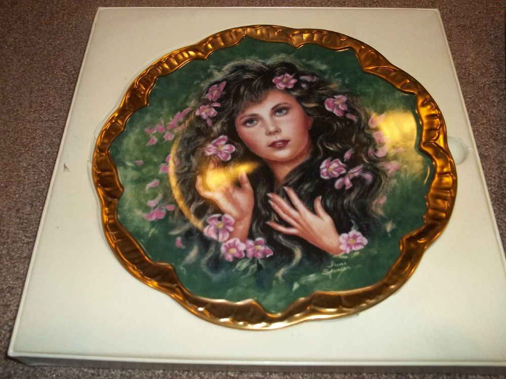 Irene Spencer Symphony Of Roses Adorable Young Lady WILD IRISH ROSE Unique Plate #PickardFineChinaCo