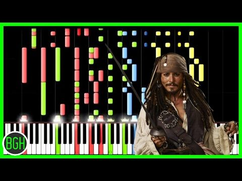 Pirates of the Caribbean Medley [Piano Tutorial] (Synthesia