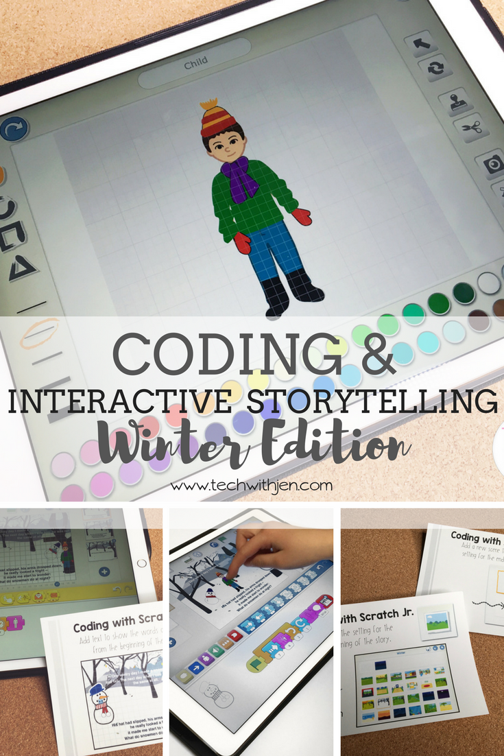 Winter Themed Interactive Storytelling And Coding With Snowmen At