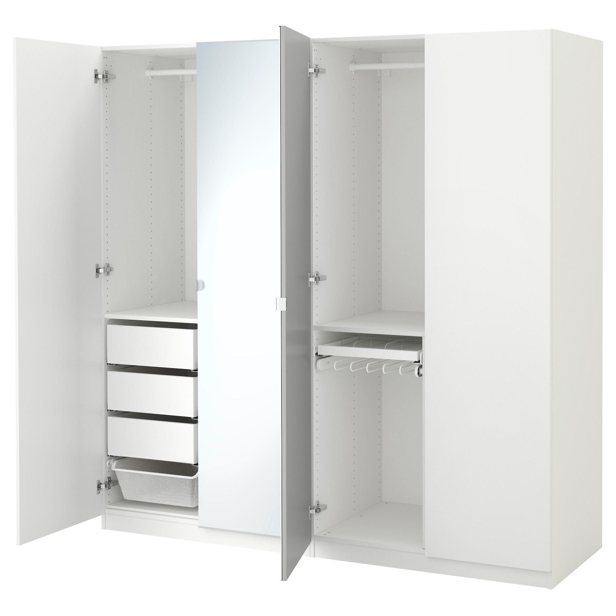 Ikea Pax White Forsand Vikedal Wardrobe In 2019 Pax