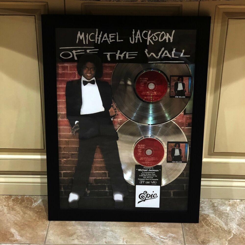 huge michael jackson off the wall 2x record music award on off the wall id=96746