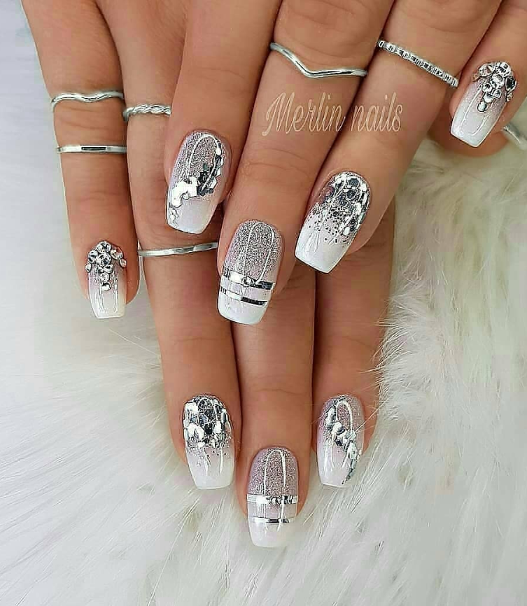 100 Trendy Stunning Manicure Ideas For Short Acrylic Nails Design Short Acrylic Nails Designs Short Acrylic Nails Stylish Nails Designs