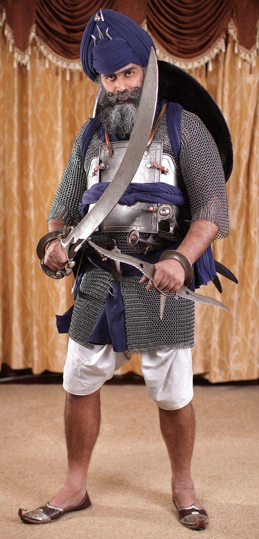 Fearsome: Nidar Singh Nihang is the last surviving master of Shastar Vidiya, a Sikh martial art