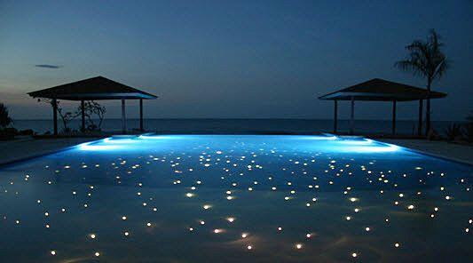 fiber optic illuminated pools Swimming pool lights