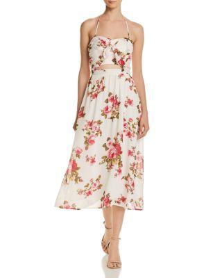 aab94068549 WAYF Daria Floral Halter Dress