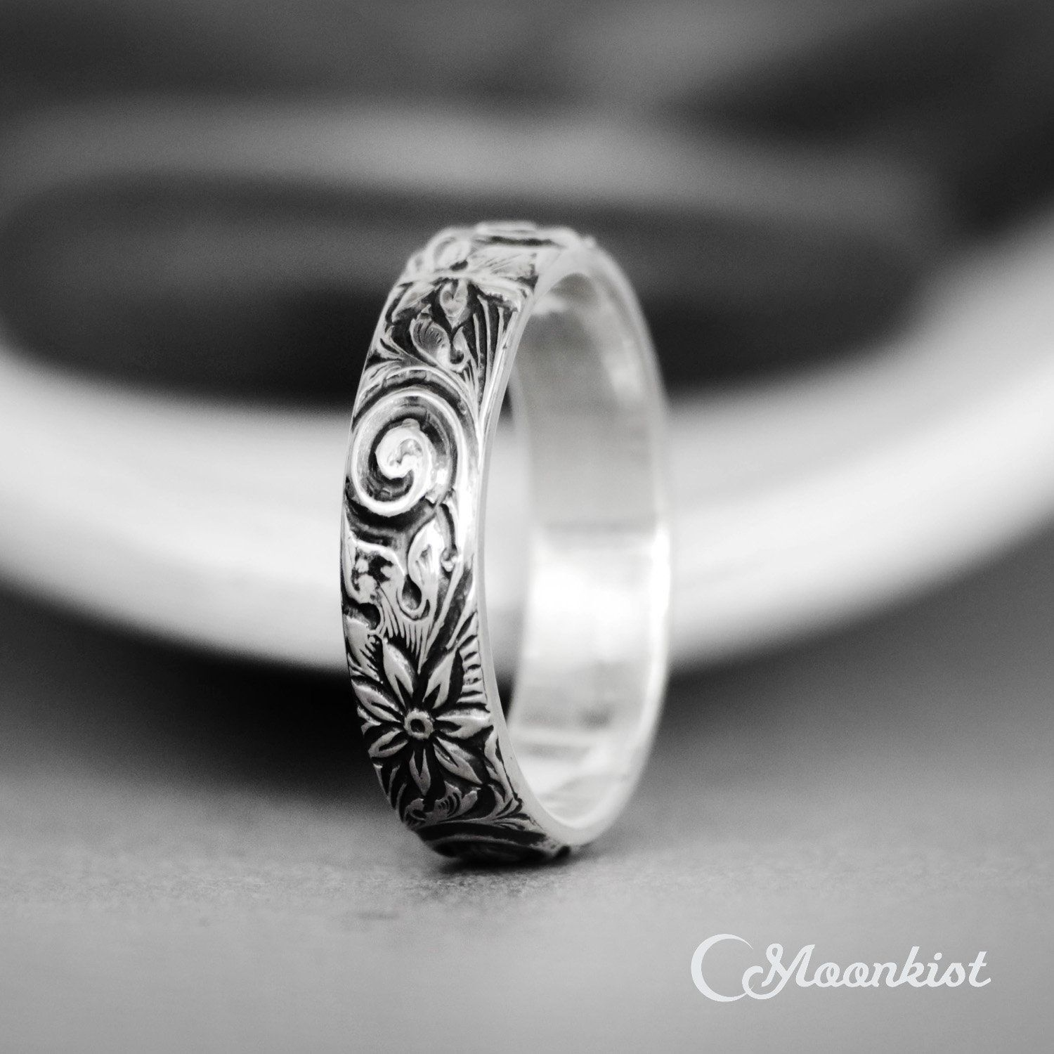 Silver Wedding Band Bride and Groom Wedding Band 6mm Spinner Celtic Ring Personalize Sterling Silver Wedding Ring Promise Ring