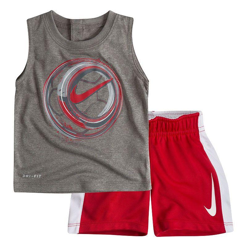 Nike Baby Boys 2 Piece Sleeveless Shirt /& Shorts Set